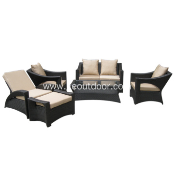 modern aluminum base patio sofa set