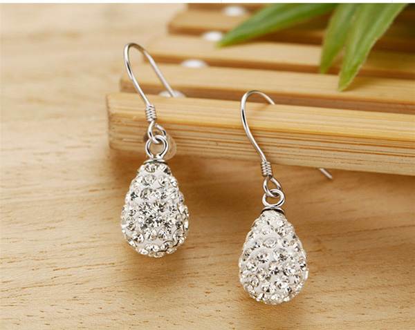 Drop Shamballa Bead Ladies Earrings