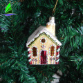 Stock Glass House Shaped Figurine Christmas Tree Ornaments