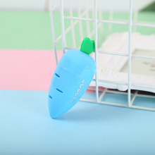 plastic carrot shape pencil sharpener