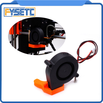 2xDouble 12V DC 5015 50x50x15mm Blow Radial Cooling Fan Sleeve Bearing for Electronic 3D Printer Parts Long Life Low Noisy