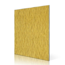 Golden Brush Aluminum Composite Panel Cladding