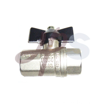 Aluminum butterfly handle brass ball valve FxF