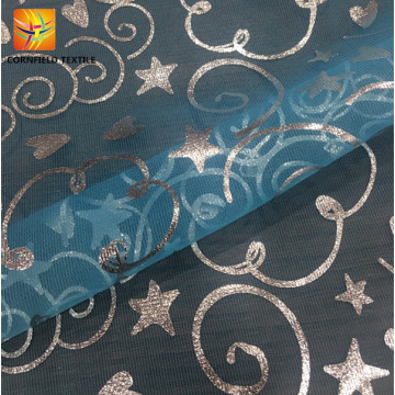 Shaoxing oem printed fancy mesh fabric