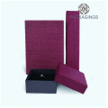 Red leatherette paper ring box for wedding