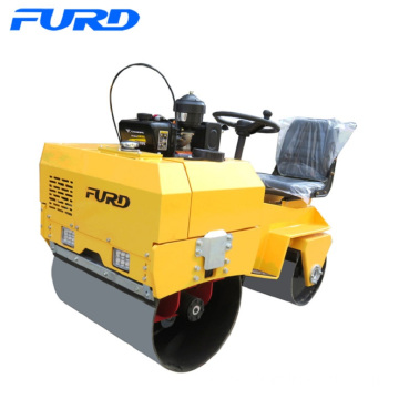New Double Drum Mini Ride-on Road Roller Compactor Fyl-855