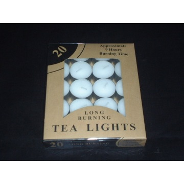 Approximate 9 Hours Burning White Tea Lights Candles