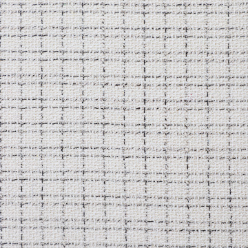 I-White Cotton Silke Jacquard