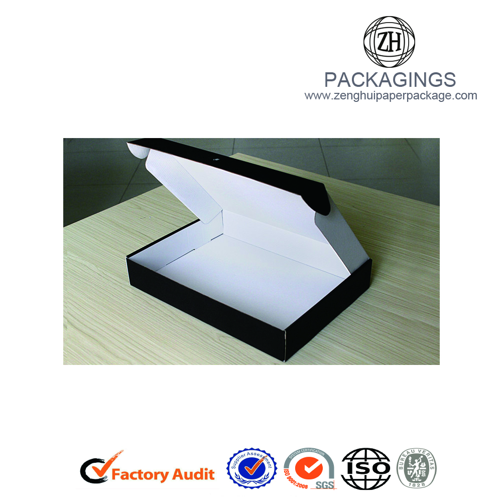 White e-flute paper packaging shipping box