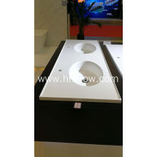 Doule bowl pure acrylic embedded washbasin