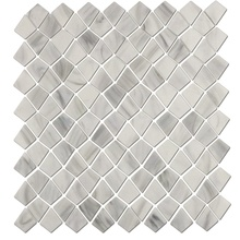 White And Gray Glass Mosaic Tile For Kitchen