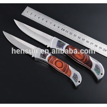 Pakka Wood Handle Stainless Steel Pocket Knives