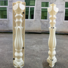 80cm/31.5in Vivid Beautiful Tulip Flower Bud Bottle Leaves Shape Balcony Gardening Concrete Construct ion Precast Baluster Mold