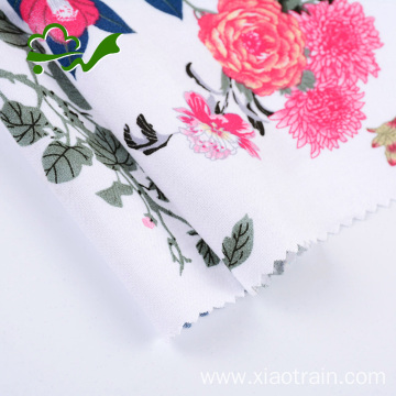 Printed flower woven pure rayon fabric for dress