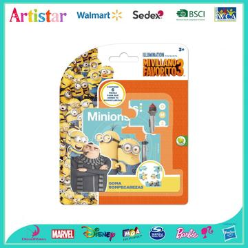 MINIONS blister card Puzzel eraser