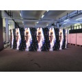 Curving LED video screen soft flexible led display