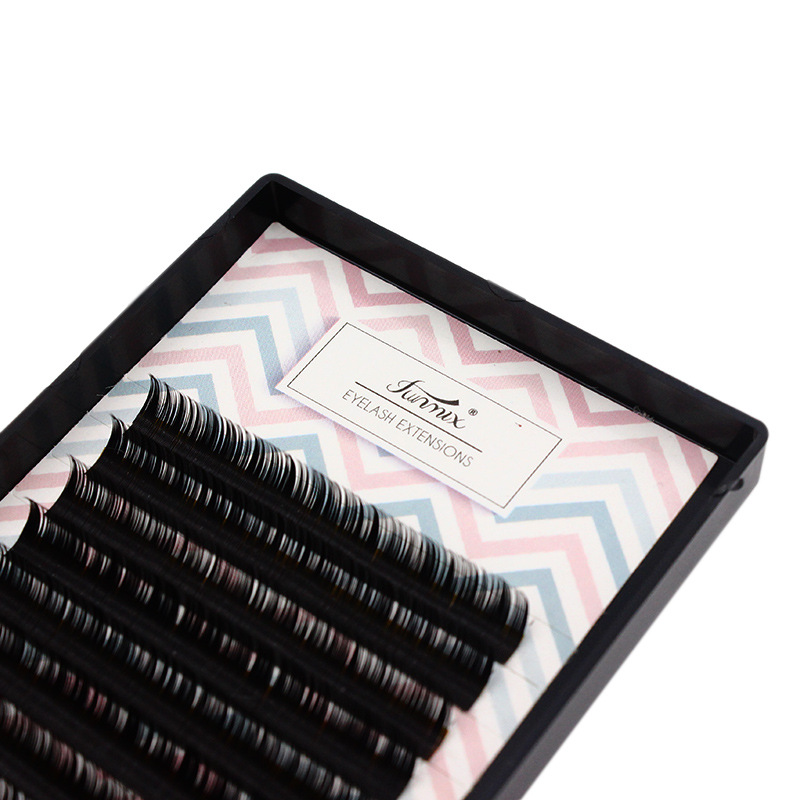 16 lines black false eyelashes extension matte