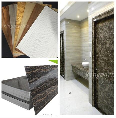 Faux 3D Stone Wall Panels and PVC Marble Sheet