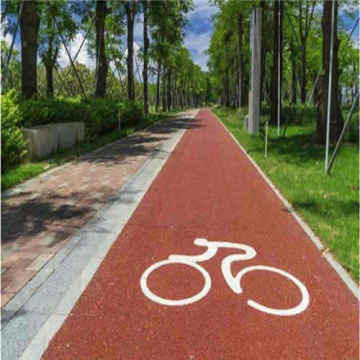 Colorful Resin Bike Lane