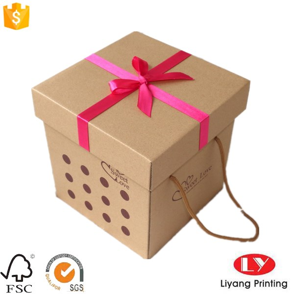 paper box with ribbon