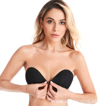 Soft Comfortable Sex Silicone Push up Lace Bra