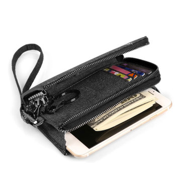 Custom Print Men Travel Long Card Holder Wallet