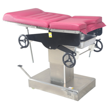 Gynecolohical examining table manual wheels
