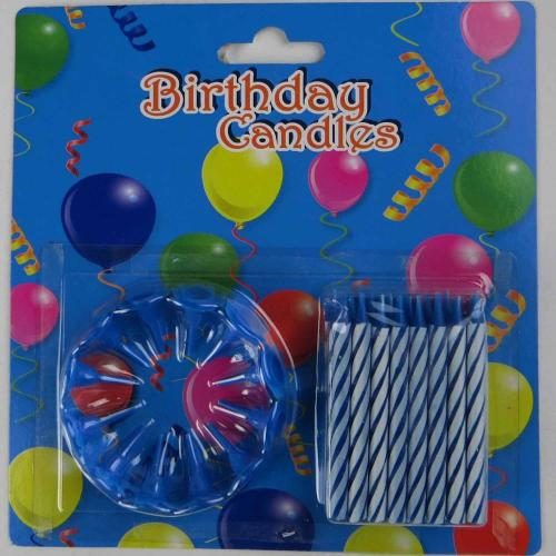 Colorful spiral little Birthday Candle
