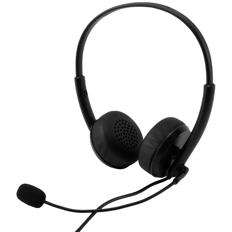 USB Headset with Microphone PC 3.5mm Business Headsets with Mic Noise Cancelling for Call Center Headphones