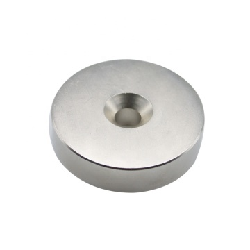Disc Rare earth Neodymium magnet with screw hole