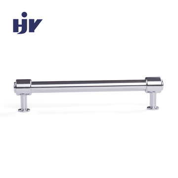 HJY modern kitchen handles Round bar furniture cabinet pulls chrome