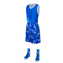 Uniforme col en V en jersey de basketball sublimation