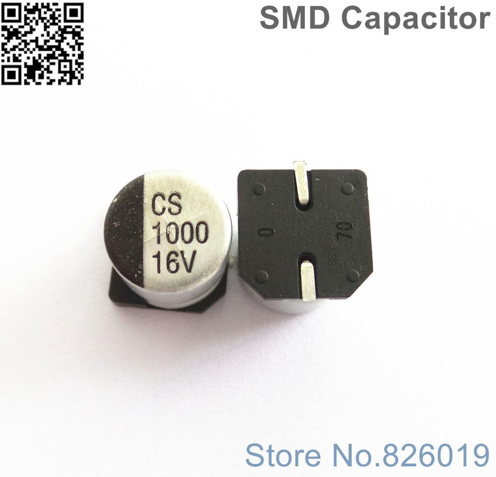 5pcs/lot 16V 1000uf SMD Aluminum Electrolytic Capacitors size 10*10.5 1000uf 16V