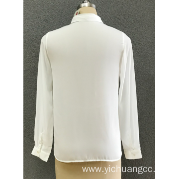 women's white chiffon shirt