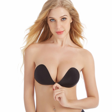 invisible strapless silicone cloth adhesive bra