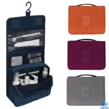 Travel Wash Cosmetic Bag Folding Hanging Toiletry Case Wash Organizer Storage Pouch Hanging Bag Luggage Travel Accessories