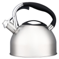 2.5L black nylon+zinc alloy handle whistling teakettle