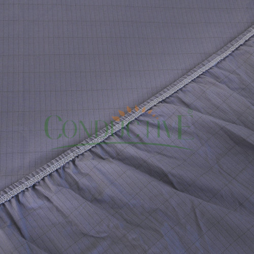 Silver Fiber Organic Cotton Grey Grounded Fitted Sheet