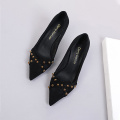 Rhinestone Closed Pointed Toe Stiletto Heel Pumps