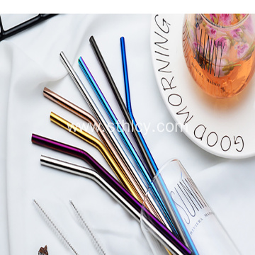 304  Environmental Protection Stainless Steel Straws Set