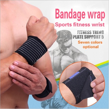 Men sweat fitness wrist band brace support