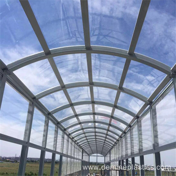 Safety anti scratch solid polycarbonate panel outdoor window