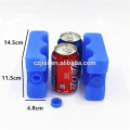 Wave shape beer cooler block can ice pack