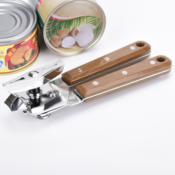 Wood Handle Stainless Steel Can Opener