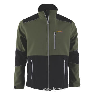 290gsm green with black Softshell Jacket