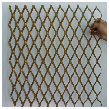 Spraying AluminumCurtain Wall Net Expanded Metal Mesh