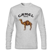 Top Camel T Shirt Brand Men's T-shirt Cotton Crewneck Long Sleeve Custom T Shirts For Boys
