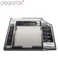 "DeepFox Plastic & Aluminum SATA to SATA 2nd HDD Caddy 9.5mm 2.5"" SSD Case HDD Enclosure For Lenovo T400 CD DVD-ROM Optibay"