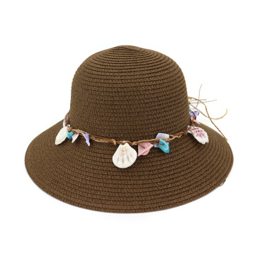Shell type seaside jam wholesale straw hat