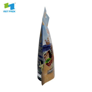 Kraft stand up pouched packaging with zipper